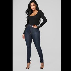 FashionNova classic high-waist skinny jeans